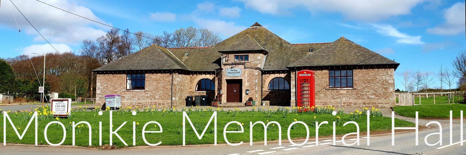Welcome To Monikie War Memorial Hall